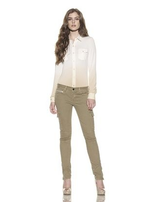 75% OFF Rockstar Denim Women's Twill Cargo Pant (Sand)