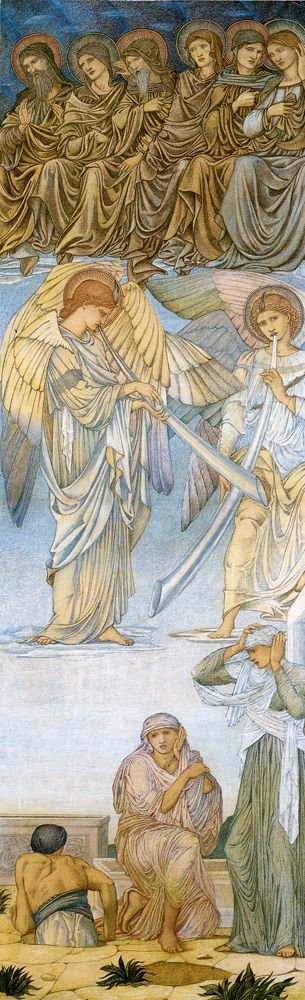 Edward Burne-Jones (1833-1898) The Last Judgment Panel 3, Wax Crayon, 1874