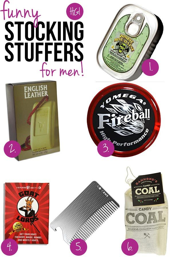 Make your guy laugh this Christmas with these funny stocking stuffers for men!
