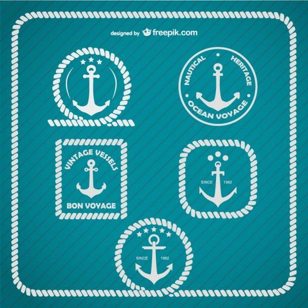 Logotipo modelo âncora marinha