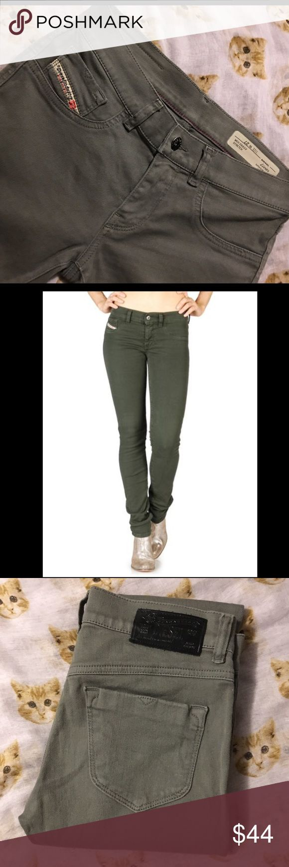 DIESEL 'LIVIER' SUPER SLIM LEGGINGS JEAN SZ 27 NWOT DIESEL 'LIVIER' SUPER SLIM JEGGING IN A SIZE 27 WITH NO FLAWS OR DEFECTS. WASH 0661V STRETCH (OLIVE COLOR) Questions, please ask! Thank you for looking.:) Diesel Jeans Skinny