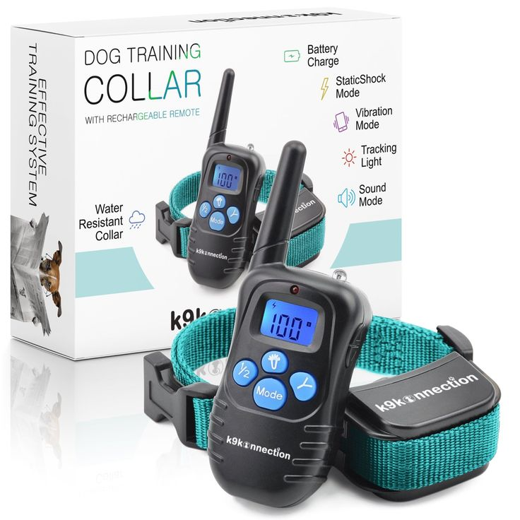 K9KONNECTION Dog Training Shock Collar with Remote | Used by Professional Trainers to Control Barking and Tricks | Rechargeable E-Collar for Small to Large Dogs 10 - 120 lbs | Beep / Vibrate / Shock 1 Dog Collar