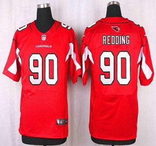 Arizona Cardinals Jersey 90 Cory Redding Red Team Color NFL Nike Elite Jerseys