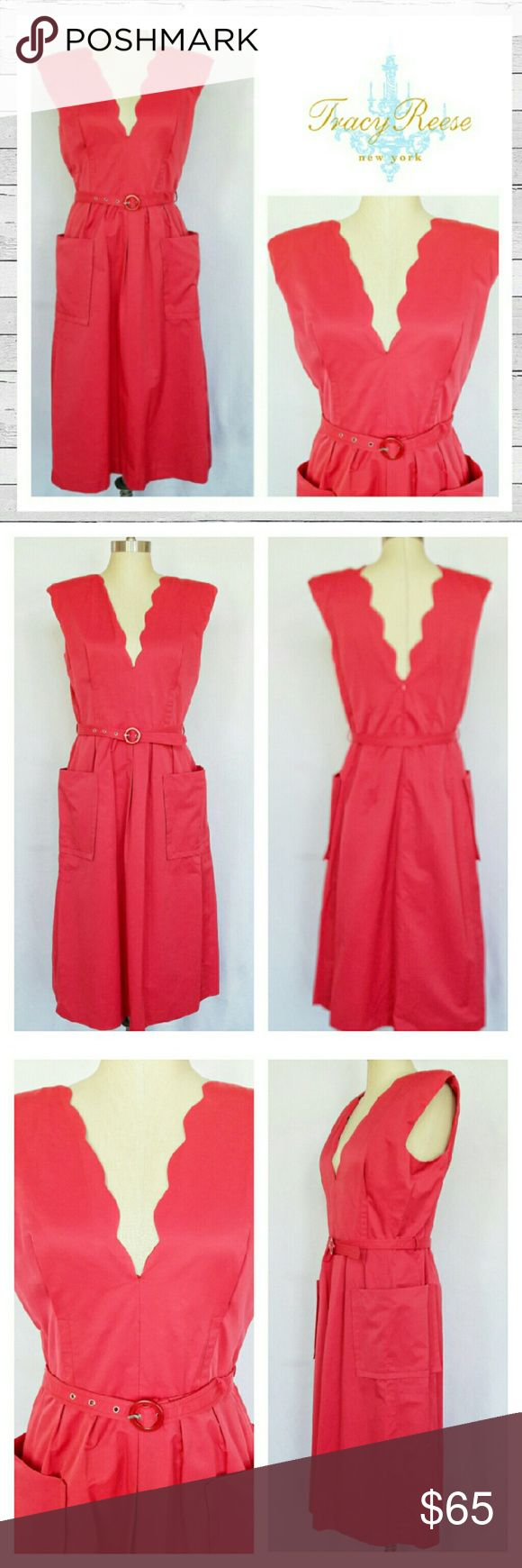 Tracy Reese New York Dress Sz 12 Tracy Reese New York Dress Sz 12 in a beautiful watermelon! Cotton/Nylon shell, Avetate lining. Excellent like new condition. Beautiful! Sorry no trades. Tracy Reese Dresses Midi