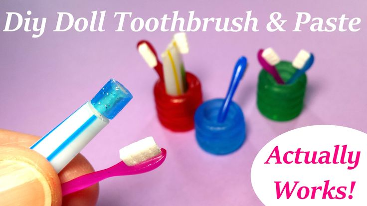 DIY Miniature Doll Toothbrush, Holder, & Working Toothpaste - Bathroom A...