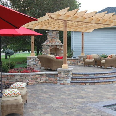 Traditional Home Raised Patio Design, Pictures, Remodel, Decor and Ideas - page 12