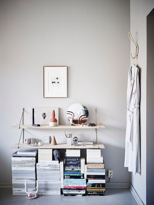 swedish greys shelfs books as shelf support