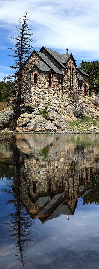 Saint Malo Chapel near Estes Park Colorado by Shane Bechler