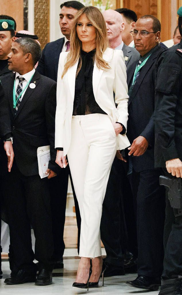 3 Pantsuits Are For Politicians From Melania Trump S Style Decoded The Former Model Doesn T Wear Trump Fashion Professional Work Outfit Milania Trump Style