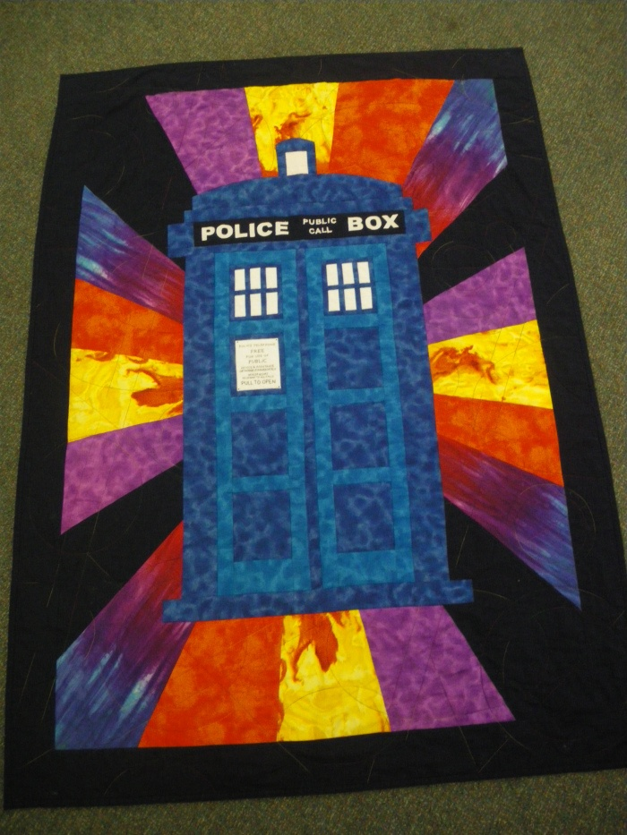 Dr Who Quilt created by one of the parents from my class