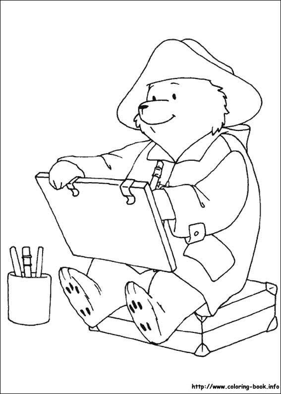 paddington bear colouring pages