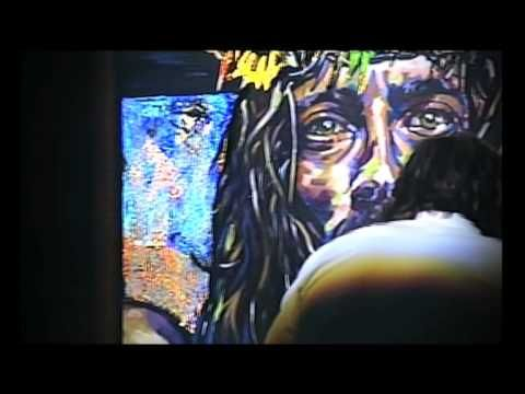 Live painting demonstration at the Vineyard Community Church in Cincinnati by Shawn Voelker.