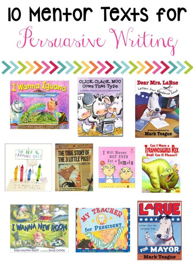 Mentor texts for persuasive essays