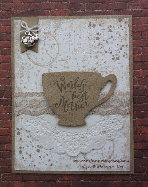 Timeless Textures and A Nice Cuppa stamp sets from Stampin' Up!