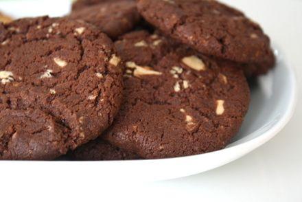 Chokladcookies med vitchoklad.