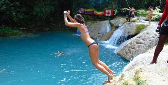Irie Blue Hole and Secret Falls Private Tours - The Blue Hole (Secret Falls) is located between Lodge and Thatch Hill Ocho Rios, Jamaica. The Blue Hole is located on the White River, which is popular with White River Rafting, River Tubing and River Kayaking. This is one of the newest places of interest in Jamaica and became very popular in recent years. Blue Hole can be truly called one of Jamaica's best hidden treasure.