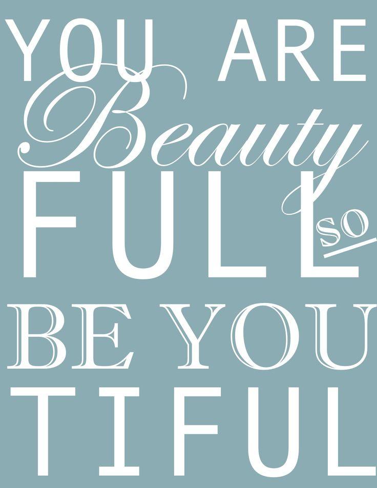 beautyfull - printable