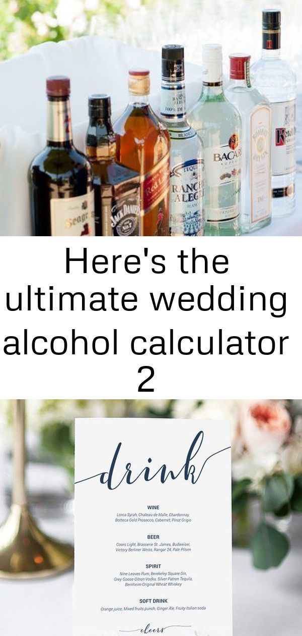 Here S The Ultimate Wedding Alcohol Calculator 2 In 2020 Wedding Alcohol Calculator Alcohol Calculator Wedding Alcohol