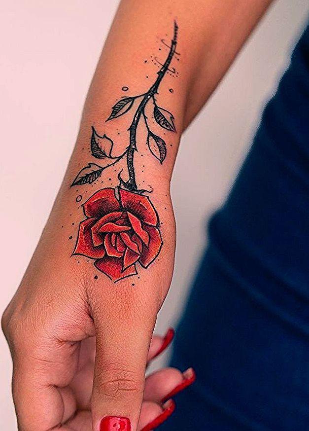 Pin By Johnny Erdman On Rosa Roja Rose Tattoos For Women Cool Wrist Tattoos Wrist Tattoos