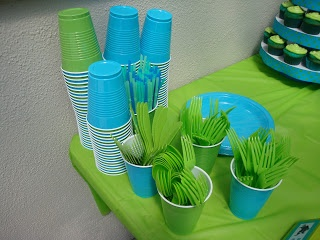 Love the lime green and blue for a color theme