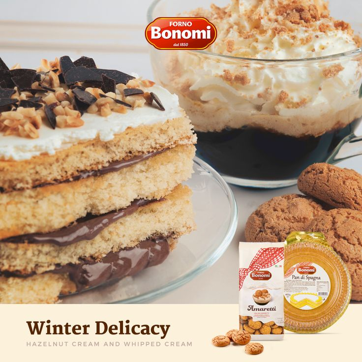 Try our Winter Delicacy with Hazelnut Cream and Whipped Cream! :)