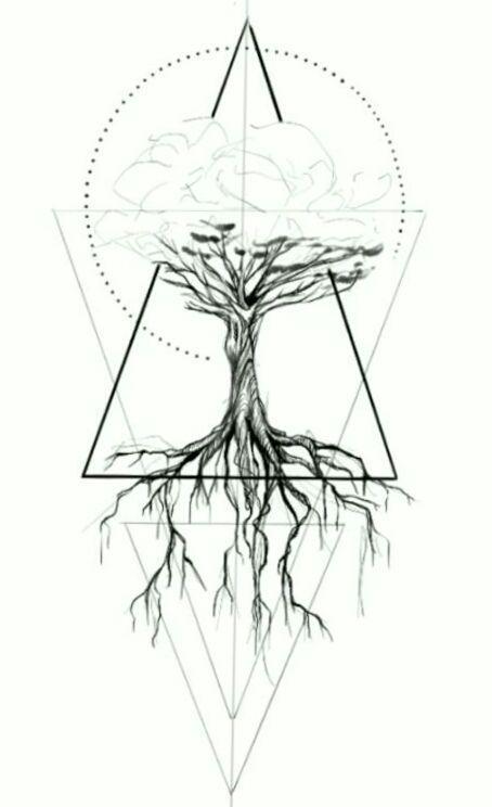 Geometrische Tätowierung – Baum, geometrisch – ~V~