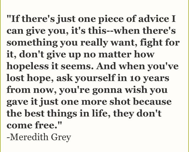 meredith grey quotes - Google Search                                                                                                                                                                                 More
