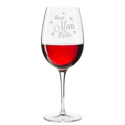 Wayfair.com - Online Home Store for Furniture, Decor, Outdoors & More Latitude Run Solano Best Mom Ever Hearts Glass 18 oz. All Purpose Stemmed #affiliate, #wineglass, #mothersdaygift, #giftideas, #wine