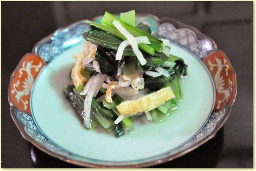 小松菜と切干大根のお浸し