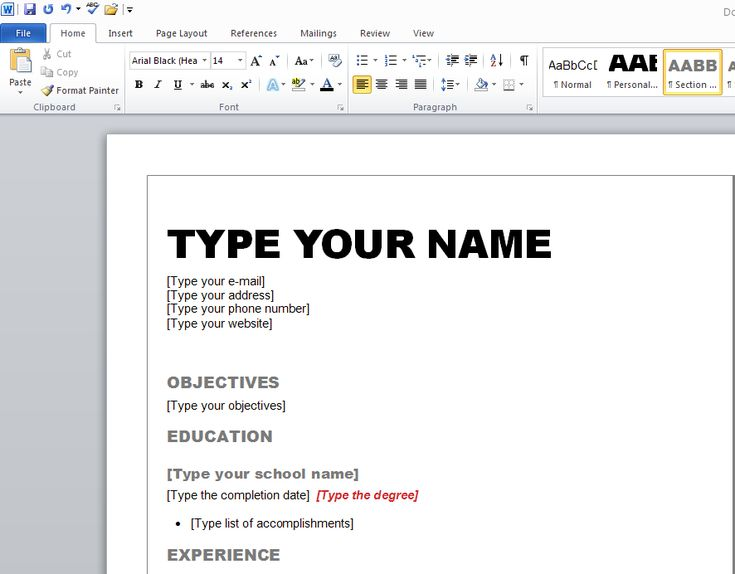 Resume Helps On Word - Submission specialist