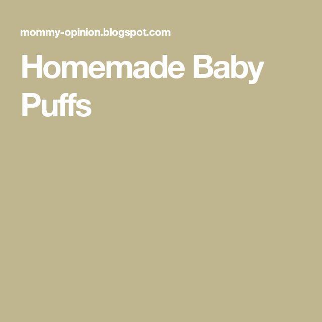 Homemade Baby Puffs