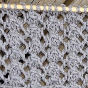 Are you looking for a lacy easy light stitch for your next scarf or jacket? Try the Dog Rose Stitch ! The look can be very different, whether you knit it with thin or thicker wool, mohair or cotton... - Multiple of 6 + 2 for edge stitches Row 1: (Edge stitch) *yo, sl1, k2 tog and pass slip stitch