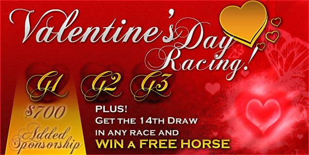 This Valentine's Day we get realistic about relationships, love and horse racing because it's all about compromise and allowances. So, these are your Valentine's Day races, from us to you with love without strings attached or shiny paper! All you have to do is decide what kind of lover you are, enter your designated races and see what you win!