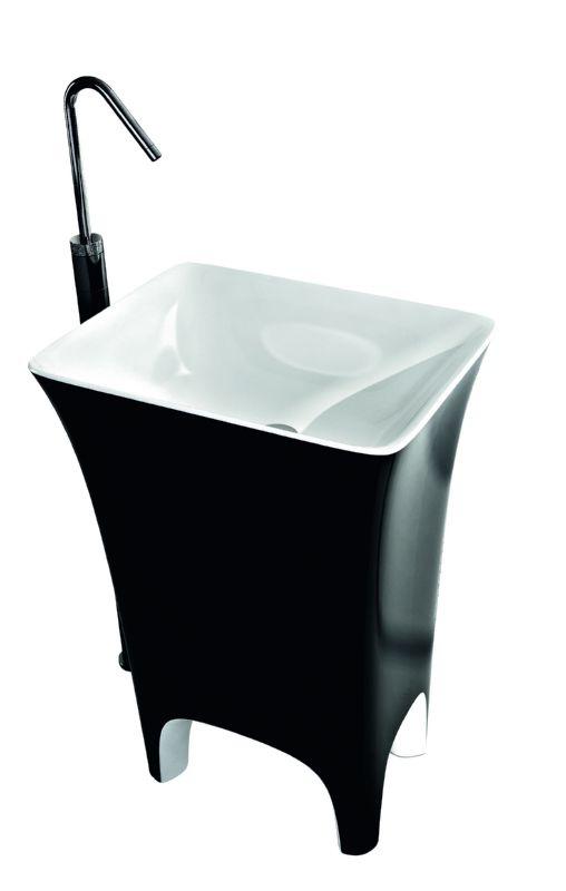 Artceram, Cow lavabo centrostanza in bianco e nero