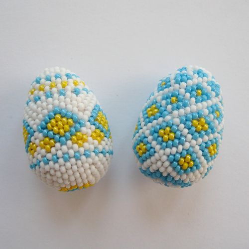 BeadedEggs: Decor Eggs, Beads Tutorials, Seeds Beads, Beads Easter, Crafty Things, Beads Projects, Easter Eggs, Art Projects, Beads Eggs