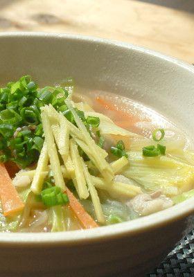 あっさりコンソメの生姜スープうどん