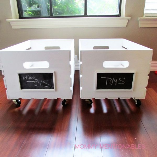 How to make a toy storage, DIY Wooden Crate Toy Storage, DIY Toy Storage, Playro… – Crafts & Creations