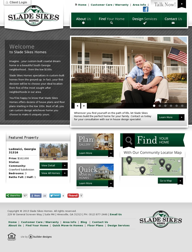 home web design. Slade Skies Homes  Website Design 68 best web design homes real estate images on Pinterest