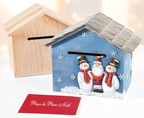 Décorer une boîte aux lettres à Père Noël