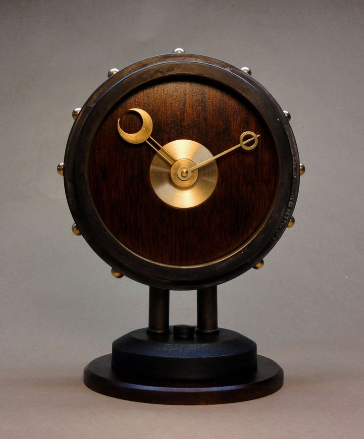 The Steampunk Modern Desk Clock Entirely Hand Made From Base To Unique