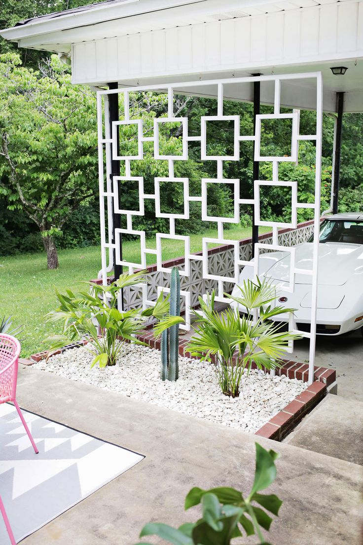Custom trellis to match pergola landscapes by earth design - Mid Century Trellis Diy