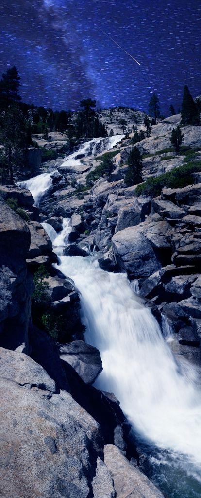 Horsetail Falls by Moonlight, Lake Tahoe, California