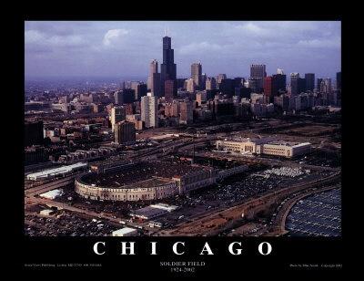 chicago bears stadium | Chicago: Soldier Field, Chicago Bears Poster von Mike Smith ...