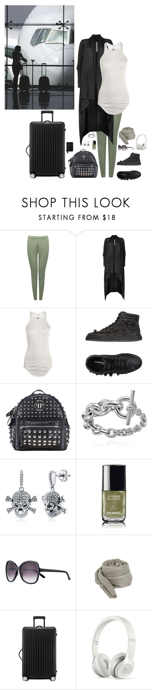 """""""on my way"""" by lila77 ❤ liked on Polyvore featuring M&Co, Rick Owens, Dsquared2, Philipp Plein, BERRICLE, Chanel, John Lewis, Faliero Sarti, Rimowa and Beats by Dr. Dre"""