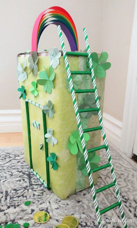 How to Make a Leprechaun Trap - including trap door, ladder, and rainbow