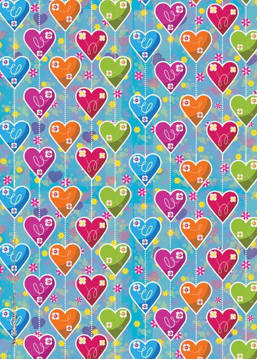 Papel regalo cortina corazones   WolpeipeL   Pinterest
