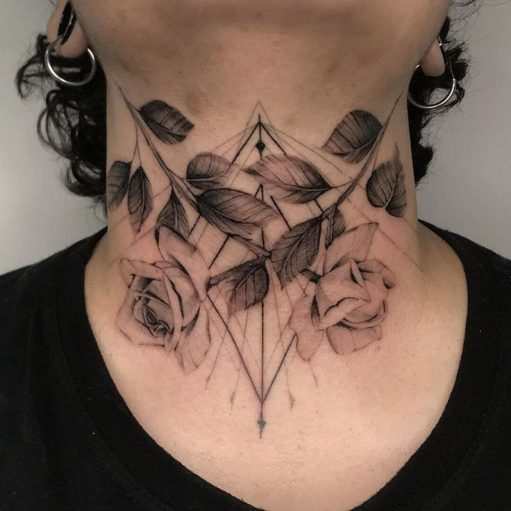 30+ Attractive Neck Tattoo Art For Women in 2021   Neck tattoos women, Rose neck tattoo, Front neck tattoo