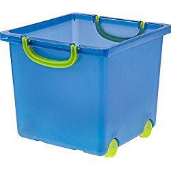 IRIS Nursery Toy Storage Box, 6 Pack, Blue