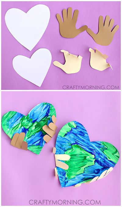 Handprint Earth Day Craft for Kids to Make! Teach them that they hold the power to keep our Earth clean and healthy.   CraftyMorning.com