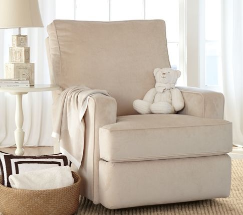Stafford Electric Recliner | Pottery Barn Kids.  Rocks in upright position.